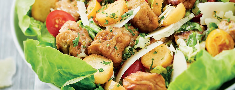 Salade césar au sauté végétal